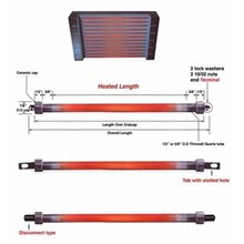 Pemanas Industri Silica Quartz Heater