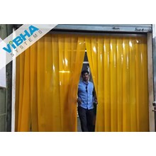 Tirai Plastik PVC Curtain-Orange (Set 1x2)