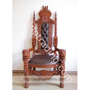 Export King Lion Chairs Solid Mahogany Wood Indonesia