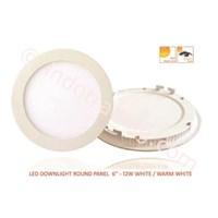 LED Downlight Round Panel 6-12W White 1