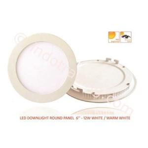LED Downlight Round Panel 6-12W White
