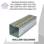 Hollow Galvanis 40x40x0.4mm  1