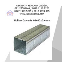 Hollow Galvanis 40x40x0.4mm