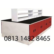 Steel Island Bench with Sink and Rack MKV-IB03