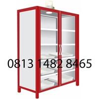 Lemari Laboratorium Steel Chemical Storage Cabinet MKV-LL03 1