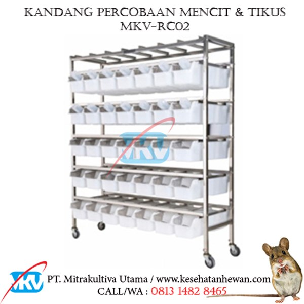 Kandang Percobaan Tikus Mencit MKV-RC02