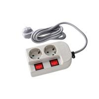 Stop Kontak Saklar 2 Lobang Plus Kabel Uticon St-1282Sw 1