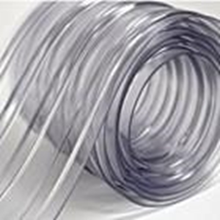 Tirai PVC Ribbed Double Transparant