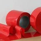 Tirai PVC Curtain Strip Merah 1