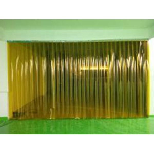 Tirai PVC Curtain Plastik Kuning Batam