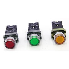 Iluminated Push Button With NEON LAY-5 Series FORT (Red/Green/Yellow)