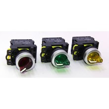 Iluminated Selector Switch LED 220VAC Type LA115-A5-20XSD FORT (Red/Green/Yellow)