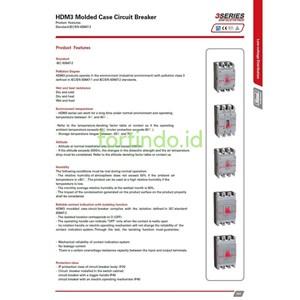 Dari MCCB HDM31250N(1000A 1250A)33XX 3Pole 85kA MCCB HIMEL 1