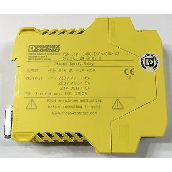 SAFETY RELAY PHOENIX CONTACT - PSR-SCP- 24DC -ESP4