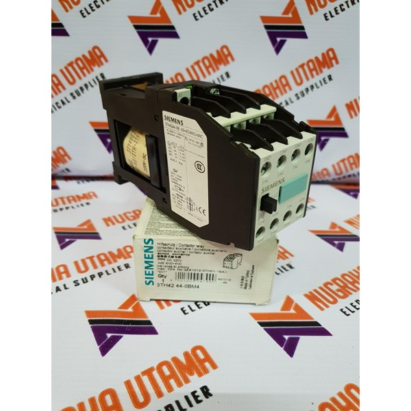 SIEMENS 3TH4244-OBM4 220VDC CONTACTOR RELAY