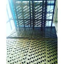 Aluminium Composite Panel Lubang Laser cutting