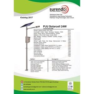 Paket Pju Tenaga Surya 24W Led - Lampu Solar