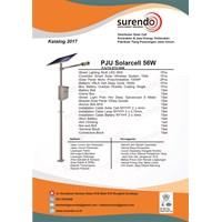 Paket Lampu Jalan Pju Tenaga Surya 56W Led 1