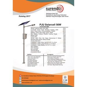 Paket Lampu Jalan Pju Tenaga Surya 56W Led