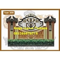 Classic Wrought Iron Fence Design