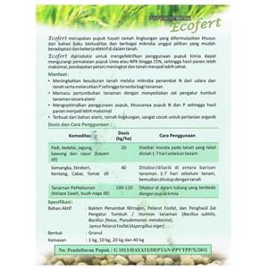 Pupuk Hayati Pembenah Tanah Organik Ecofert 1 Kg Padat