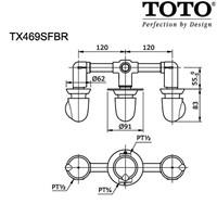 TOTO TX469SFBR 1