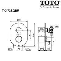 Jual TOTO TX473SQBR Shower Mixer w/Diverter & Stop Valve 2