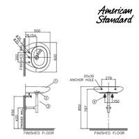 Jual Wastafel American Standard tipe LA20M7C10-A Wall Hung Lavatory 2