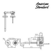 Jual Kran Air American Standard Wall Mounted Basin Mixer Model IDS Natural tipe F073M112 2