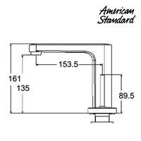 Jual Kran Air American Standard ( Deck Mounted Basin Mixer Model IDS Clear tipe F072C112) 2