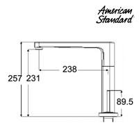 Jual Kran Air American Standard ( Extended Deck Mounted Basin mixer Model IDS Clear tipe F072K112) 2