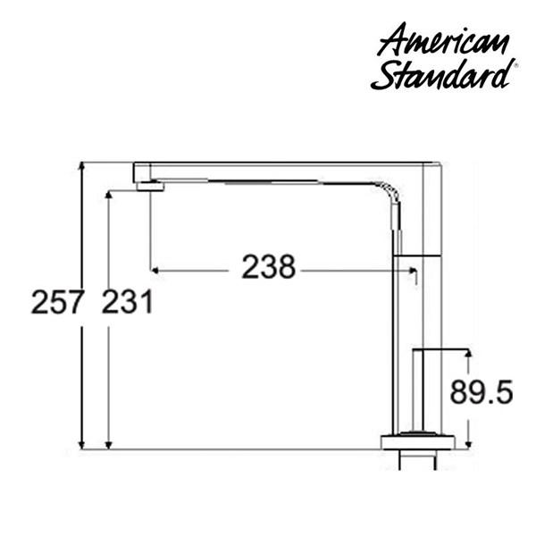 Kran Air American Standard ( Extended Deck Mounted Basin mixer Model IDS Clear tipe F072K112)