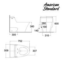 Toilet American Standard (One Piece Toilet Model IDS Dynamic tipe HA18YNC10-A) 1