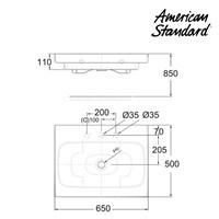 Wastafel American Standard ( Wall Hung Lavatory 650mm Model IDS Dynamic tipe LA18P2C10-A) 1