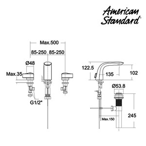 Kran Air American Standard 1-Hole Basin Mixer