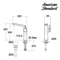 Tap Water Standard one-Hole Ameican Extended Basin Mixer