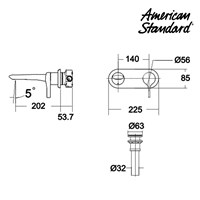 American Standard Water Faucet Concealed Basin Mixer
