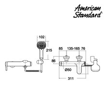 Shower Kamarmandi American Standard Exposed Bath & Shower Mixer