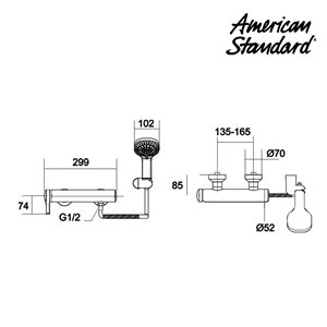 Shower American Standard Exposed Shower Only Model IDS Dynamic