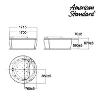 Jual Bathtub American Standard IDS 2
