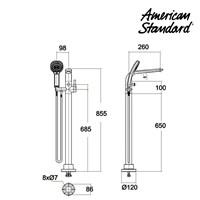 Jual Shower American Standard IDS Dynamic Floorstand Bath Filler Single Leg 2