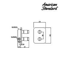Jual Switch American Standard IDS Concealed Themo Shower Mixer 2
