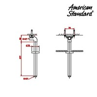Jual Tiang Shower American Standard IDS Ceiling Shower Arm 2