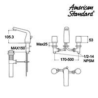 Jual Kran Air American Standard La Vita SH Dual Control Lava Faucet  2