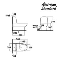 Jual Toilet American Standard Active One Piece Toilet 2