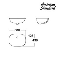 Jual Wastafel American Standard Active Under Counter  2