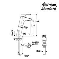 Jual kran air American Standard Active SH Lava Faucet M 2