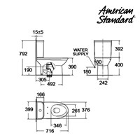 Jual Toilet American Standard Neo Modern CCST Toilet  2