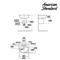 Jual Wastafel American Standard Neo Moder Lav with Semi Pedestal 2