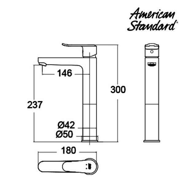 Kran Air American Standard Neo Modern SH SL Vessel Basin Mixer